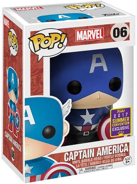 SDCC 2017 MARVEL CAPTAIN AMERICA BLACK & BLUE OUTFIT POP VINYL FIGURE