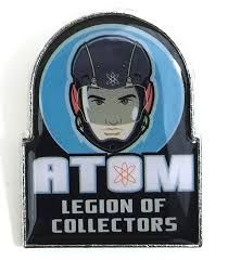 DC LEGION OF COLLECTORS DC TV BOX EXCLUSIVE THE ATOM PIN BADGE