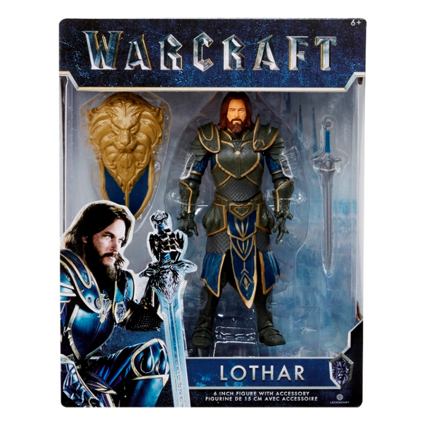 """Warcraft Movie Lothar Action Figure 6"""" Wave 1 New Release"""