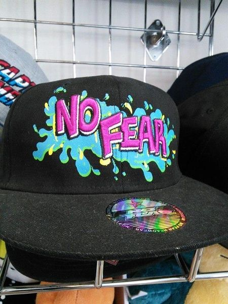 No Fear Black Snap Back Cap