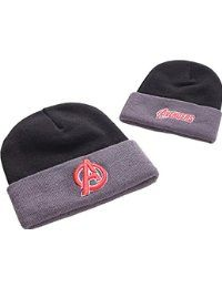 Avengers Red Avengers Logo Official New Marvel comics Black Beanie hat