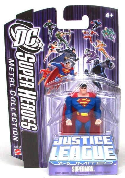 DC Super Heroes Superman Justice League Unlimited 7cm Metal Collection Figure