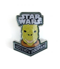 STAR WARS SMUGGLERS BOUNTY - BOUNTY HUNTER BOX EXCLUSIVE BOSSK PIN BADGE
