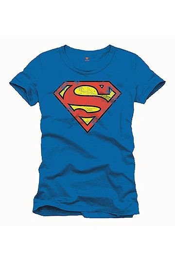 Superman T-Shirt Vintage Logo Blue