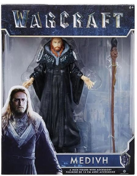 """Warcraft Movie Medivh Action Figure 6"""" Wave 1 New Release"""