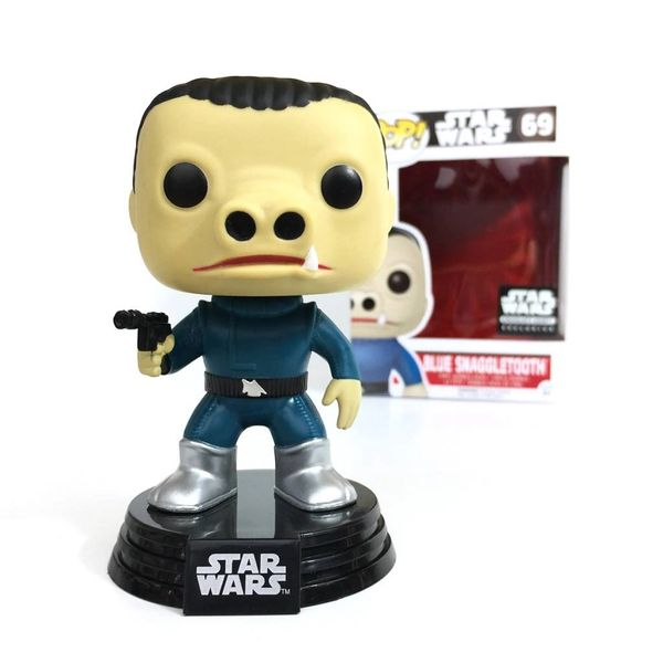 STAR WARS SMUGGLERS BOUNTY CANTINA EXCLUSIVE CHASE BLUE SNAGGLETOOTH POP