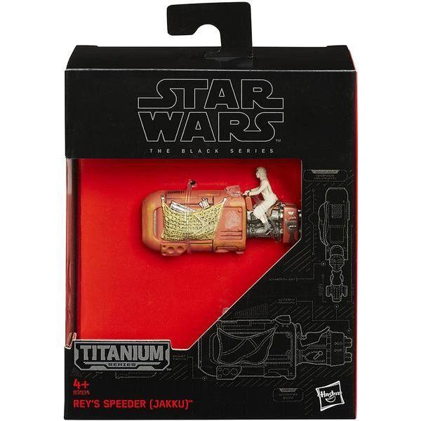 STAR WARS BLACK SERIES TITANIUM VEHICLES - WAVE 1 - 05 Rey's Speeder