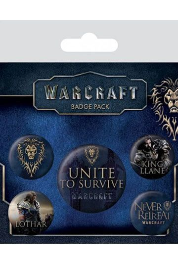 Warcraft Pin Badges 5-Pack The Alliance