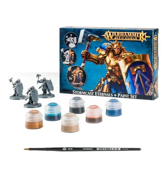 Warhammer Age of Sigmar Stormcast Eternals + Paint Set