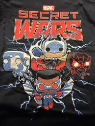 MARVEL COLLECTORS CORPS SECRET WARS BOX- EXCLUSIVE SECRET WARS POP T-SHIRT