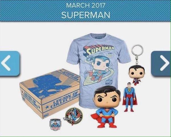 DC LEGION OF COLLECTORS EXCLUSIVE BOX - SUPERMAN