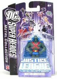 DC Super Heroes Martian Manhunter Justice League Unlimited 7cm Metal Collection Figure