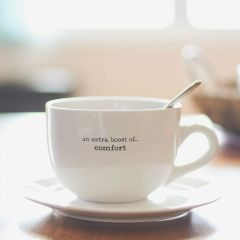 Oversized 24 oz Mug {an extra boost of...comfort, xoxo, nourishment and/or indulgence}