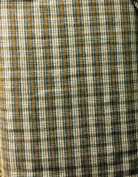 Brown, blue, white checked, plaid FLANNEL Fabric