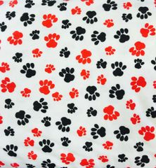 AE Nathan Co. Comfy Prints Black and Red Paw Print Flannel