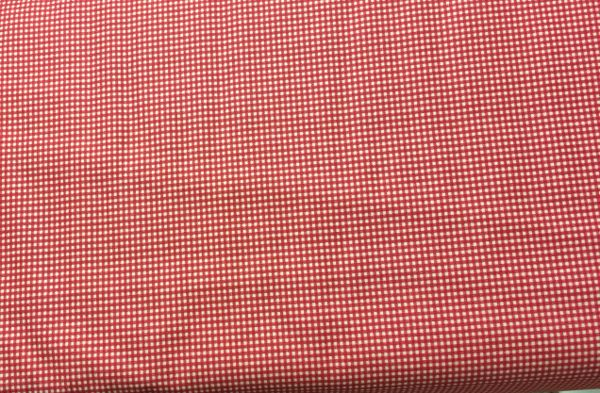 Red and White Love Potion checked Fabric - tiny, small checks