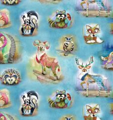 Wild and Whimsy Waw Animals by 3 Wishes fabric