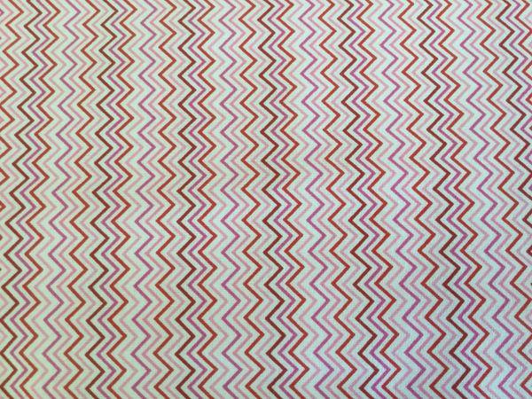 Timeless Treasures mini pink zigzag stripe