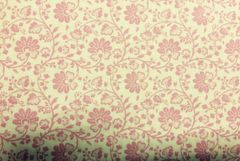 MODA Gypsy Girl by Lily Ashbury Cream Background with carnation pink all over floral design 11466-18