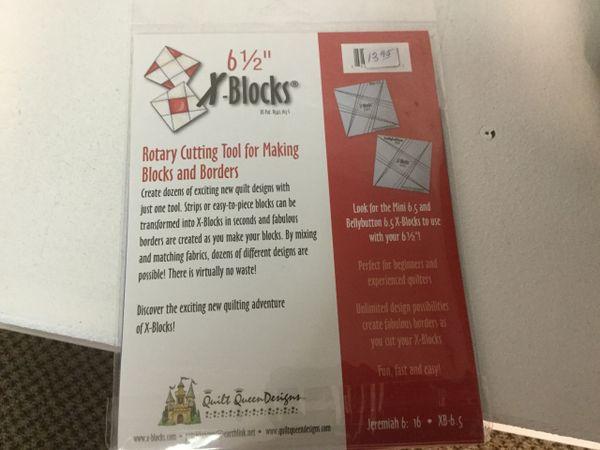X-blocks 6 1/2 inch template ruler