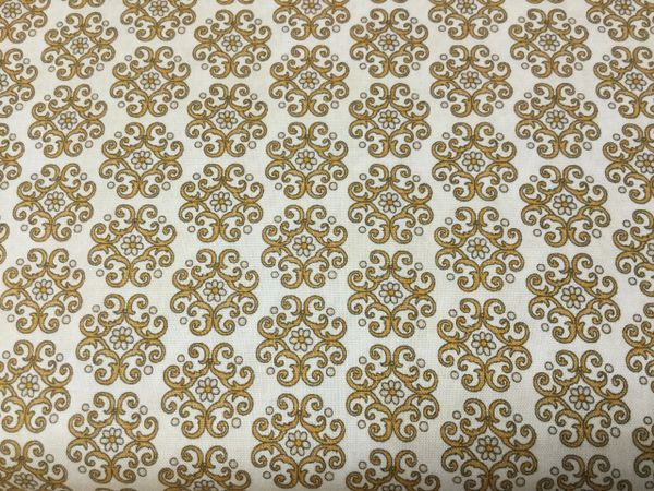 Quilting Treasures In Bloom tan gold print