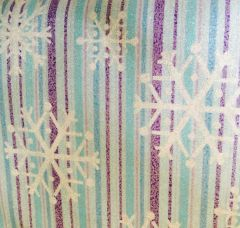 Michael Miller Snowflake Stripe Sparkle Fabric CM2049-BLUE-D