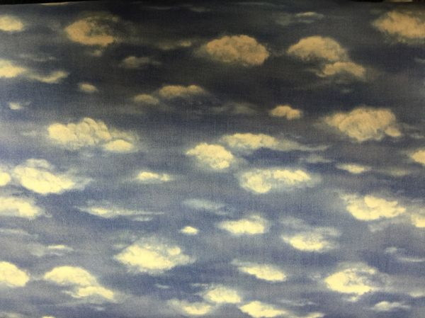 MODA Blue - White - Cloud - Cloudy Fabric