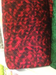108 inch extra wide red and black geometric backing