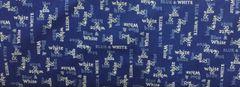 Moda White and Blue Spa Fabric