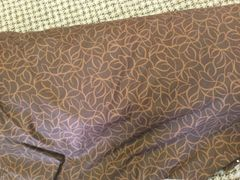 108 inch extra wide dark brown with light brown design