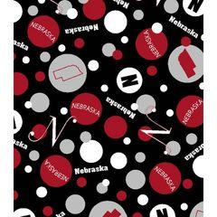 Nebraska black dots fabric. Dotted.