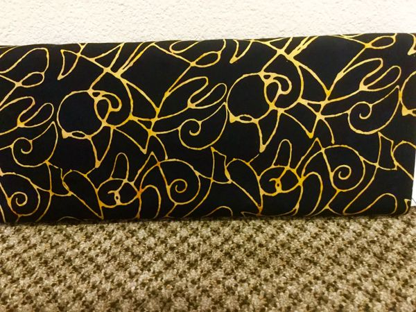 Blank Quilting Squiggled Caramel Sumatra Fabric