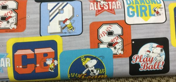 Quilting Treasures Baseball Snoopy All Stars Fabric