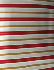 Valentine - Valentines Day red/pink/gold striped fabric HENRY GLASS Sold by the Yard