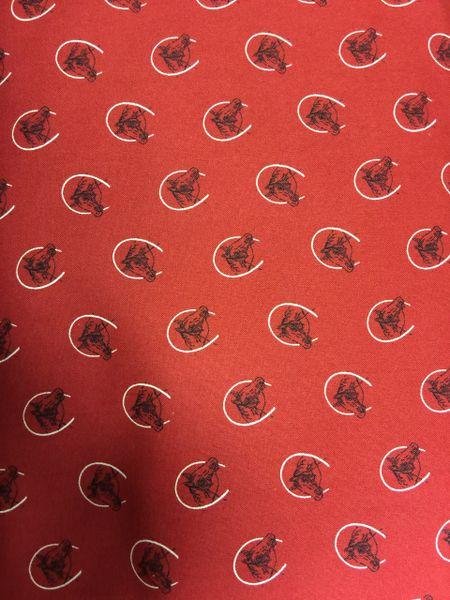 Windham Fabrics Western Red Fabric with Horseshoes