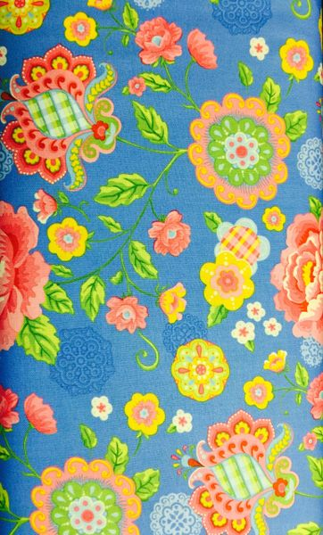 MODA Gypsy Girl by Lily Ashbury Blue Background with large floral Print 11460-23
