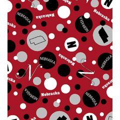 Nebraska Dots Fabric. Red dotted