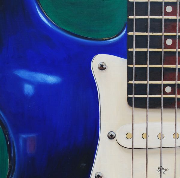 Electric Guitar in Blue