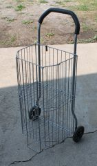 Collapsible Shopping Cart with a Shelf