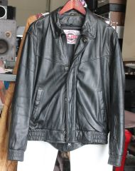 HJC Black Leather Cirotech Riding Wear Jacket-size 42