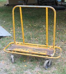 Metal Plywood Cart w/ Hard Plastic Wheels