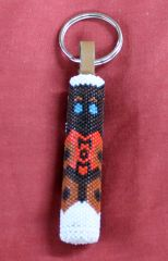 Teddy Bear Mom Key Fob