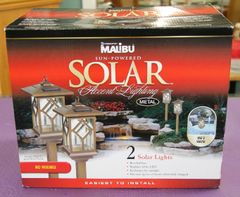 New Malibu Sun Powered Solar Accent Lights
