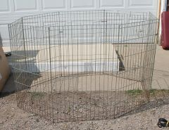 Wire Fold Up Pet Exercise Pen-5 foot Diameter