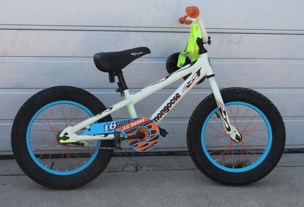 "Mongoose Lil' Bubba 16"" Fat Tire Youth/Kids Bike Bicycle with Training Wheels"