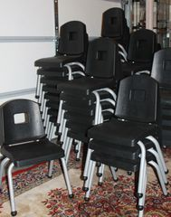 Aluminum And Plastic Stacking Kid Size Chairs