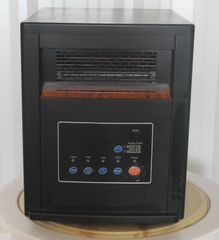 Renew 1500W Electric Infrared Box Heater-Black and Brown