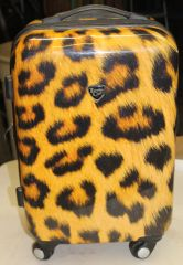 Travelers Club Wheeled Hard Case Luggage Tiger Print