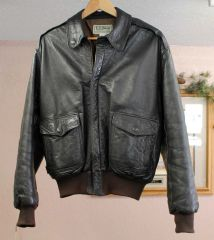 LL Bean Flying Tiger Leather Bomber Jacket