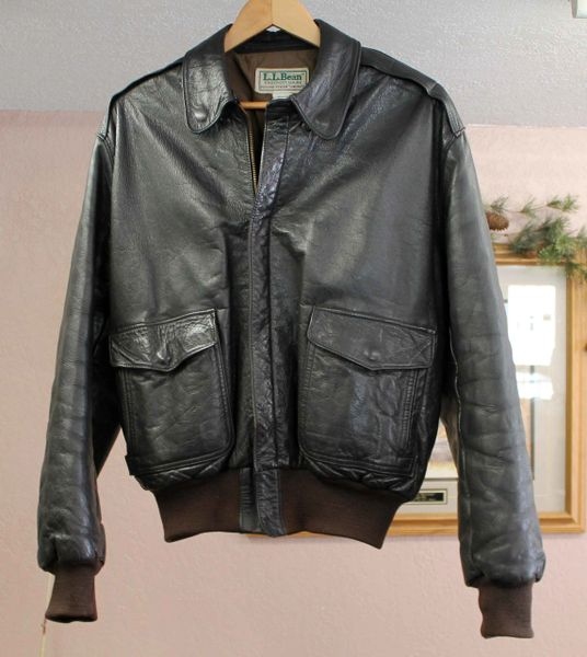 Ll Bean Flying Tiger Leather Bomber Jacket The Jolly